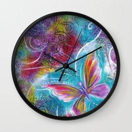 Blossom Like a Butterfly | Mimi Bondi Wall Clock