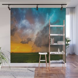 Glorious - Stormy Sky and Kansas Sunset Wall Mural