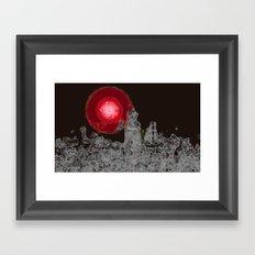 Red Sun Framed Art Print