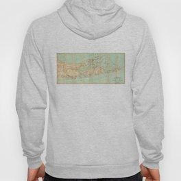 Vintage Road Map of Long Island (1905) Hoody