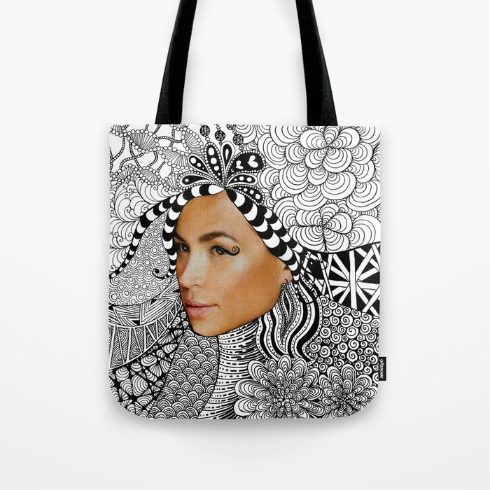 Tangled Face Tote Bag