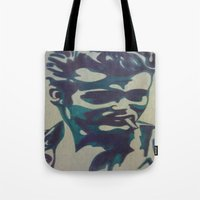 james franco Tote Bags featuring James by Artistry by Briana