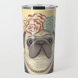 Frida Pug Kahlo Travel Mug