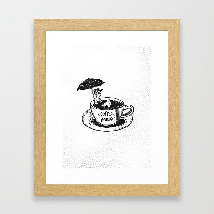 Coffee Holiday Framed Art Print