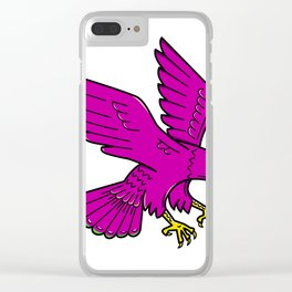 Peregrine Falcon Swoop Mono Line Clear iPhone Case