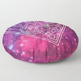 Pink Celtic Heart Galaxy Floor Pillow