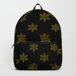 gold flakes on black pattern Backpack