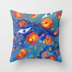 Snails abyss Throw Pillow