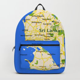 Sri Lanka Map Design Backpack