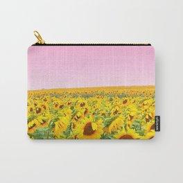 Blushing Sunflower Feilds Carry-All Pouch