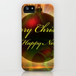 Merry Christmas and a Happy New Year iPhone Case