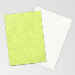 Speckled Texture - Pastel Lime Yellow Green Stationery Cards