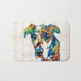Colorful Great Dane Art Dog By Sharon Cummings Bath Mat