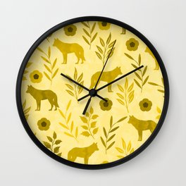 Forest Animal and Nature III Wall Clock