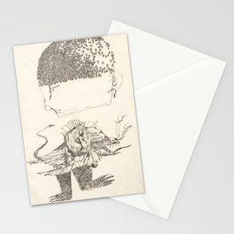 Cap de flors i monstre amb peus i llegua Stationery Cards