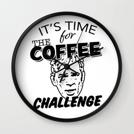 It's Time For The Coffee Challenge with George Clooney Wall Clock