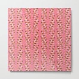 Wheat Grass Pink Metal Print