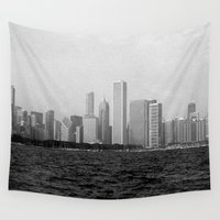 chicago Wall Tapestries featuring Chicago by inesmarinho
