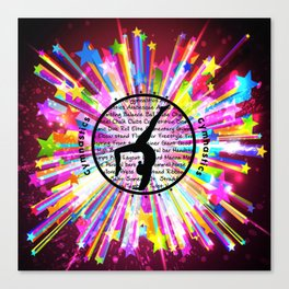 rainbow star gymnast Canvas Print