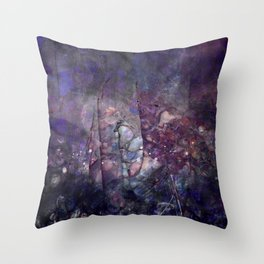 Cracked Purple Geode Texture Throw Pillow