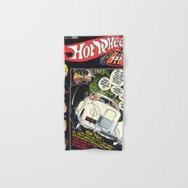 Vintage 70's Era Hot Wheels Comics Redline Cord Advertising Poster Hand & Bath Towel