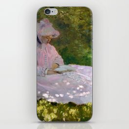 Springtime by Claude Monet (1872) iPhone Skin