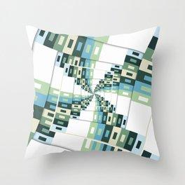 Retro Geometric Rotation Throw Pillow
