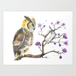 Know It Owl Art Print