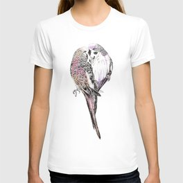Pink Budgies T-shirt