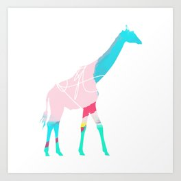 Abstract Giraffe Art Print