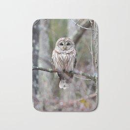 Barred owl Bath Mat