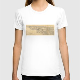 Map of Los Angeles and the San Gabriel Mountains (1915) T-shirt
