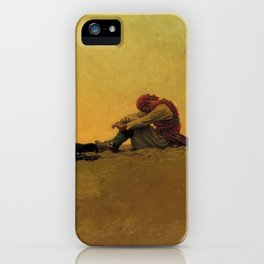 """Marooned"" Pirate Art by Howard Pyle iPhone Case"