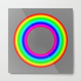 12 color rainbow donut Metal Print