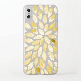 Watercolor brush strokes - yellow Clear iPhone Case