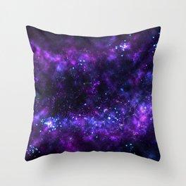 Cosmos - Purple Throw Pillow