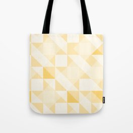 All Yellow Triangle Pattern Tote Bag