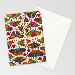 Rainbow Moth Print Stationery Cards
