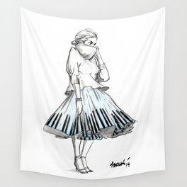 midi skirts Wall Tapestry