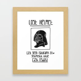Darth Vader 'Lost Helmet' Print Framed Art Print