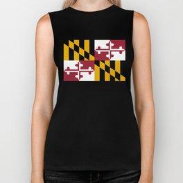 Maryland state flag Biker Tank