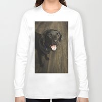 lab Long Sleeve T-shirts featuring Black Lab by Every Dog Has a Story