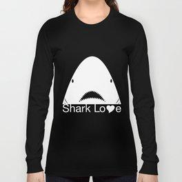 Shark Love (white) Long Sleeve T-shirt