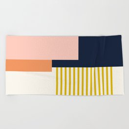 Sol Abstract Geometric Print in Multi Beach Towel