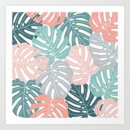 Tropical Leaves Monstera deliciosa Art Print