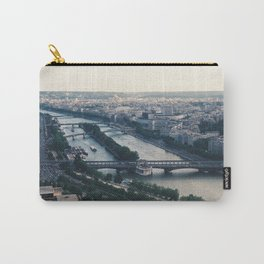 Paris france from the Eiffel Tower black & white photograph zollione Carry-All Pouch
