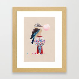 Kookaburra Gumball Machine Framed Art Print