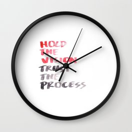 150226 Typography 51 Wall Clock