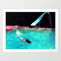 swim Art Prints featuring Swim by Katie Troisi