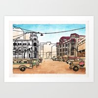 philippines Art Prints featuring Philippines : Escolta by Ryan Sumo